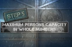 6. Capacity Label - Maximum Persons Capacity Whole Numbers