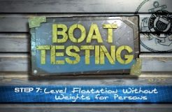 Step 7 - Level Floatation Without Weight For Persons